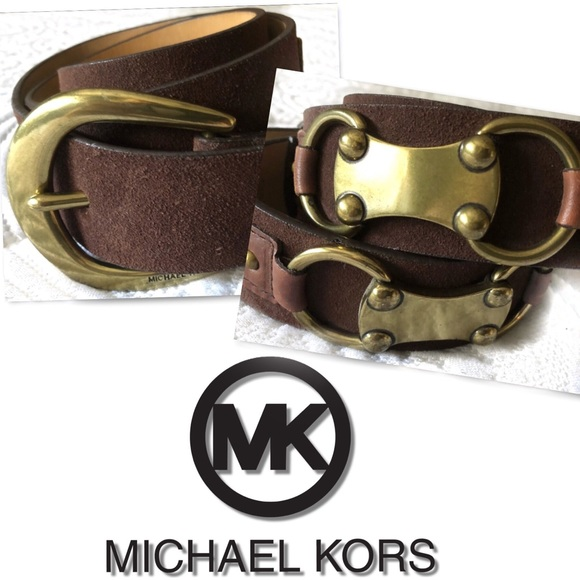 MICHAEL Michael Kors Accessories - MICHAEL MICHAEL KORS BROWN LEATHER BELT SZ M